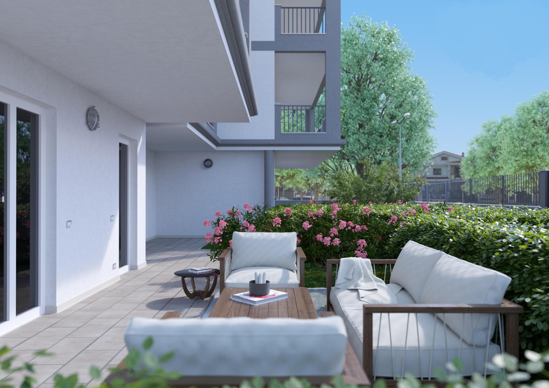 Piano terra con giardino di 70 m²